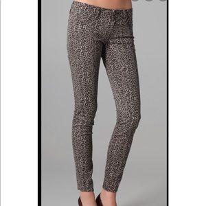 Leopard verdugo Paige skinny jeans Sz 28